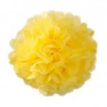 Pompom de Papel de Seda Amarelo 37cm