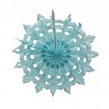 Floco de Neve de Papel Azul Claro 25cm