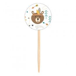 Topo para Cupcake Urso Boho