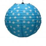 Luminária de Papel Poá Azul 25cm