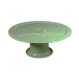 Boleira de Metal Verde Claro 27,5x12cm