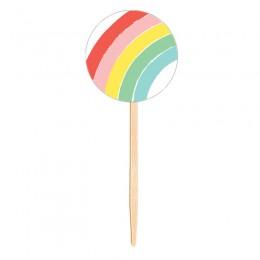 Topo para Cupcake Arco-Íris