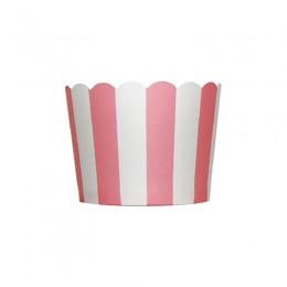 Forminhas para Cupcake de Papel Rosa Claro Chiclete Vertical