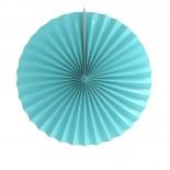 Leque de Papel Azul Claro Liso 35cm