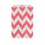 Saquinhos de Papel Rosa Pink Zig Zag
