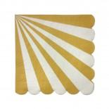 Guardanapo de Papel Wave Dourado 20 Uni
