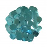 Confete Bolinha Laminado Azul Tiffany 1,5cm com 15gr