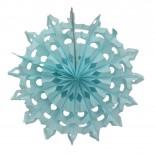 Floco de Neve de Papel Azul Claro 35cm