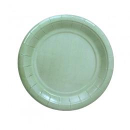 Prato de Papel Liso Verde Água 19cm