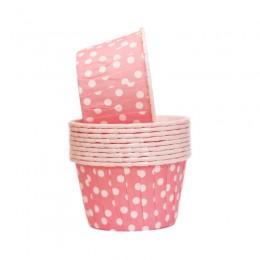 Forminhas para Cupcake Forneáveis Rosa Poá