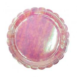 Prato de Papel Furta Cor Rosa Claro 23cm