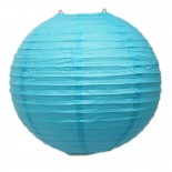 Luminária de Papel Azul 35cm