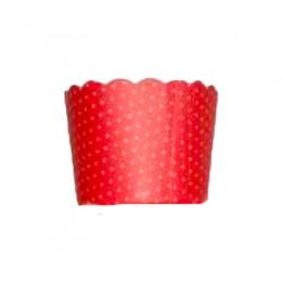 Forminhas para Cupcake de Papel Vermelho Mini Poá 20 uni