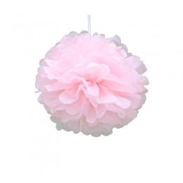 Pompom de Papel de Seda Rosa Claro 20cm