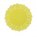 Toalha de Papel Rendada Amarela 16,5cm