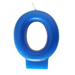 Vela Número 0 Azul 8cm