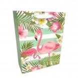 Sacola Flamingo Tropical