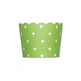 Forminhas para Cupcake de Papel Verde Limão Estrela