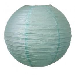 Luminária de Papel Azul Tiffany Clara 35cm
