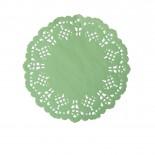 Toalha de Papel Rendada Verde 11,5cm
